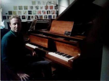 Playing Bill Evans' piano at Sotheby's...